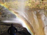 Waterfall of rained water