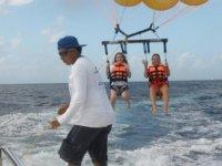 Tandem parasailing