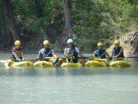 Kayakeando con buenos amigos