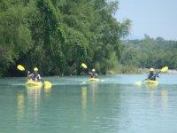 Kayaking group