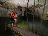 Enjoy the cenote of crystal clear water