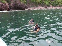 Snorkeling at sea