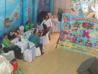 Kids party for 130 people