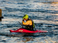 Kayak in the sea