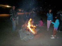 campfire and chocolates