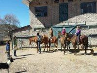 The horseback riding team