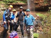 grupo de canyoning