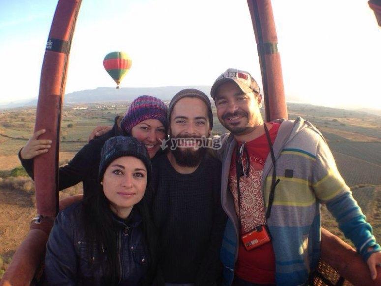 Comparte la experiencia del vuelo en globo