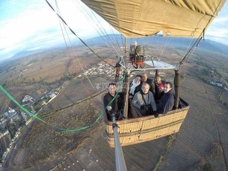 Selfie desde el globo