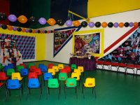 Decorated party room