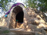 Entrance to temazcal