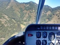 Panoramic view from helicopter