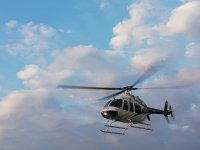 Vista desde el cielo en helicóptero