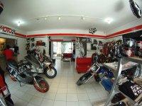 Interior of the Moto21 Store