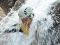 Down waterfalls