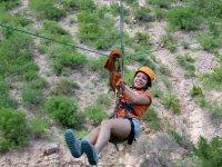 Zipline in the desert