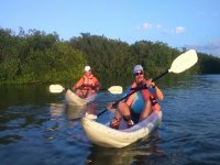 Men in kayak in Yucatan