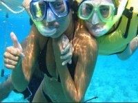 Snorkeleando en islas mujeres