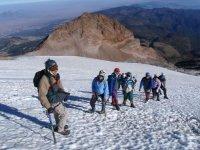 High mountain hike