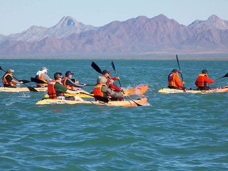 You can go kayaking with your family or friends