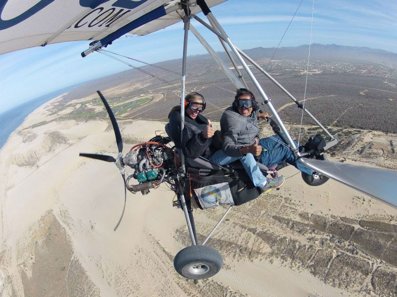 What does an ultralight tour consist in?