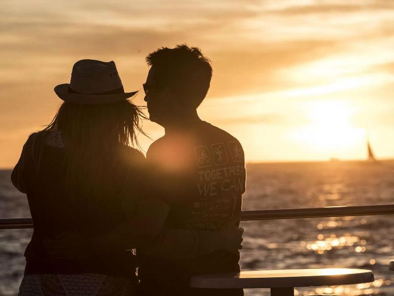 Enjoy a romantic sunset ride