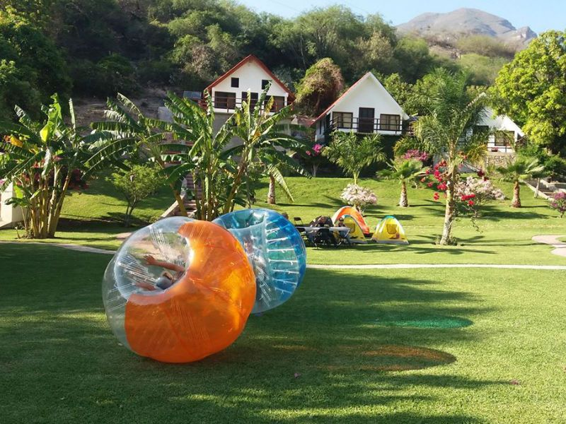 What do I need to include zorbing in my event?